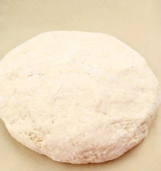 Lightly knead dough 7 to 10 times & form into a disk about 1.5 inches high