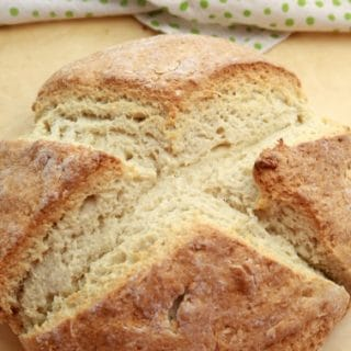 No Yeast Irish Brown Soda Bread after baking finished