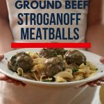 Ground beef Stroganoff meatballs 1
