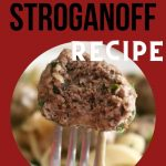 Ground beef Stroganoff meatballs 2