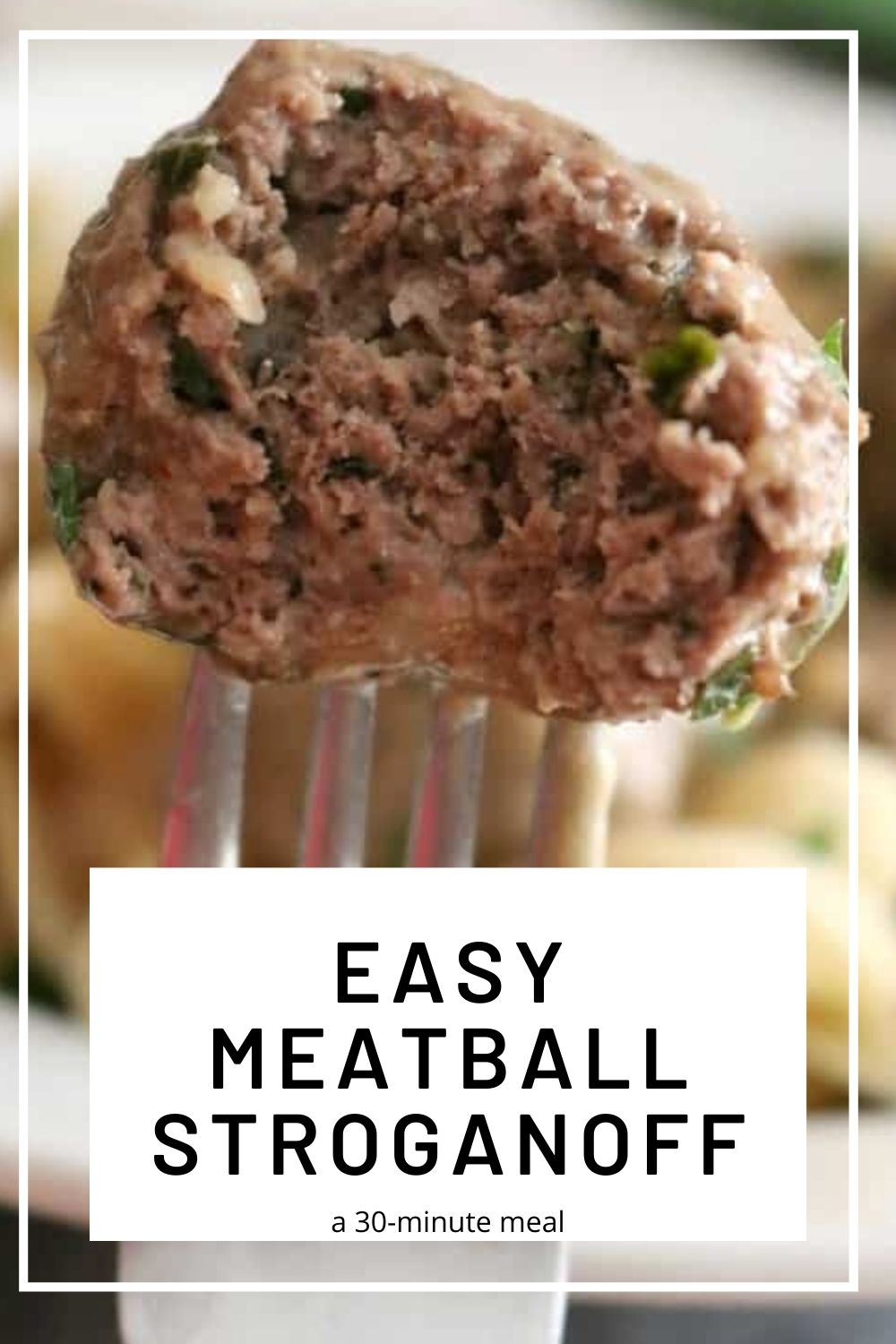 Ground beef Stroganoff meatballs 3