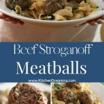 Ground beef Stroganoff meatballs 4