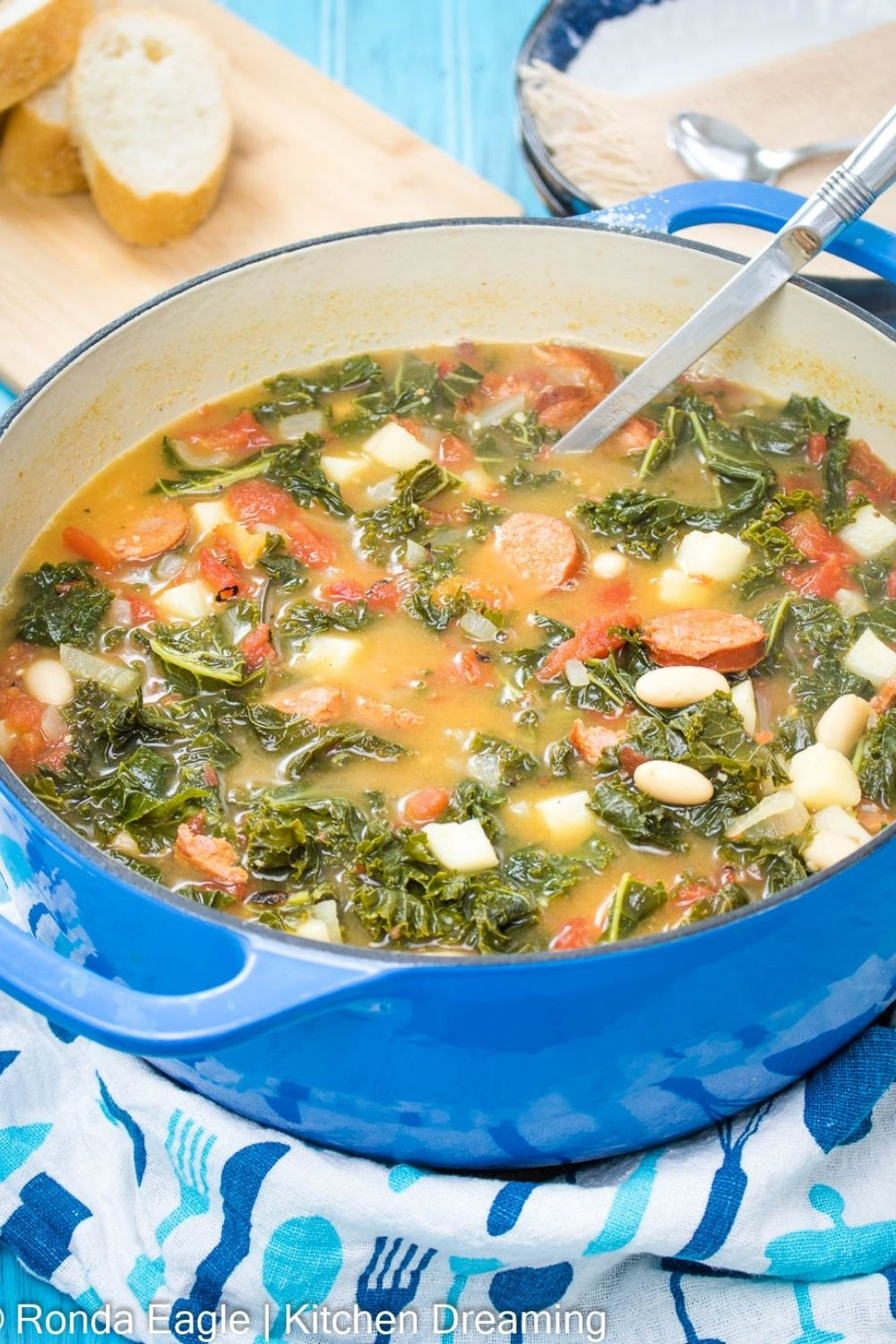 Portuguese Sausage and Kale Soup Caldo Verde Recipe 3