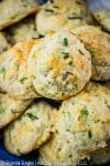 A basket of garlic Cheddar drop Biscuits [Cheddar Bay Biscuits]